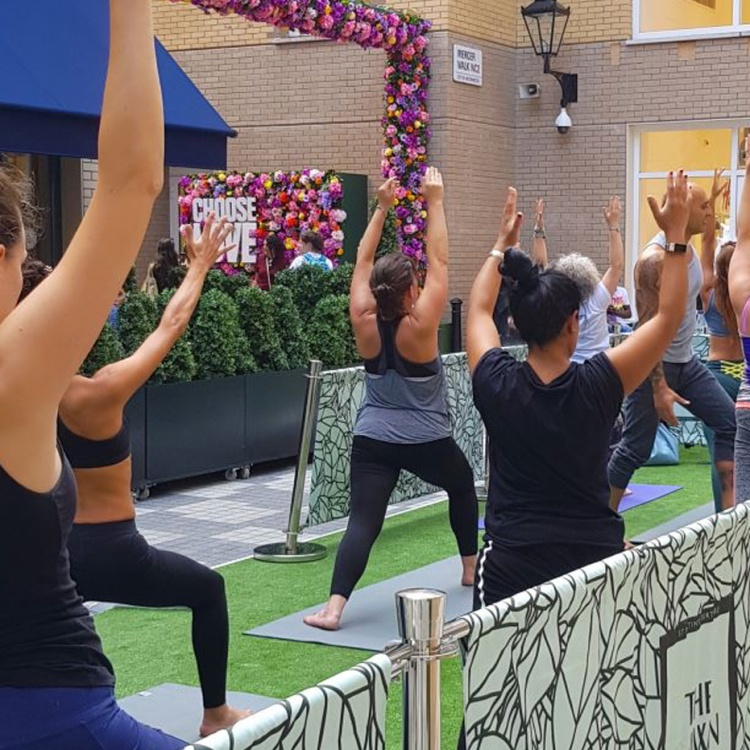 yoga at the lawn with yogarise