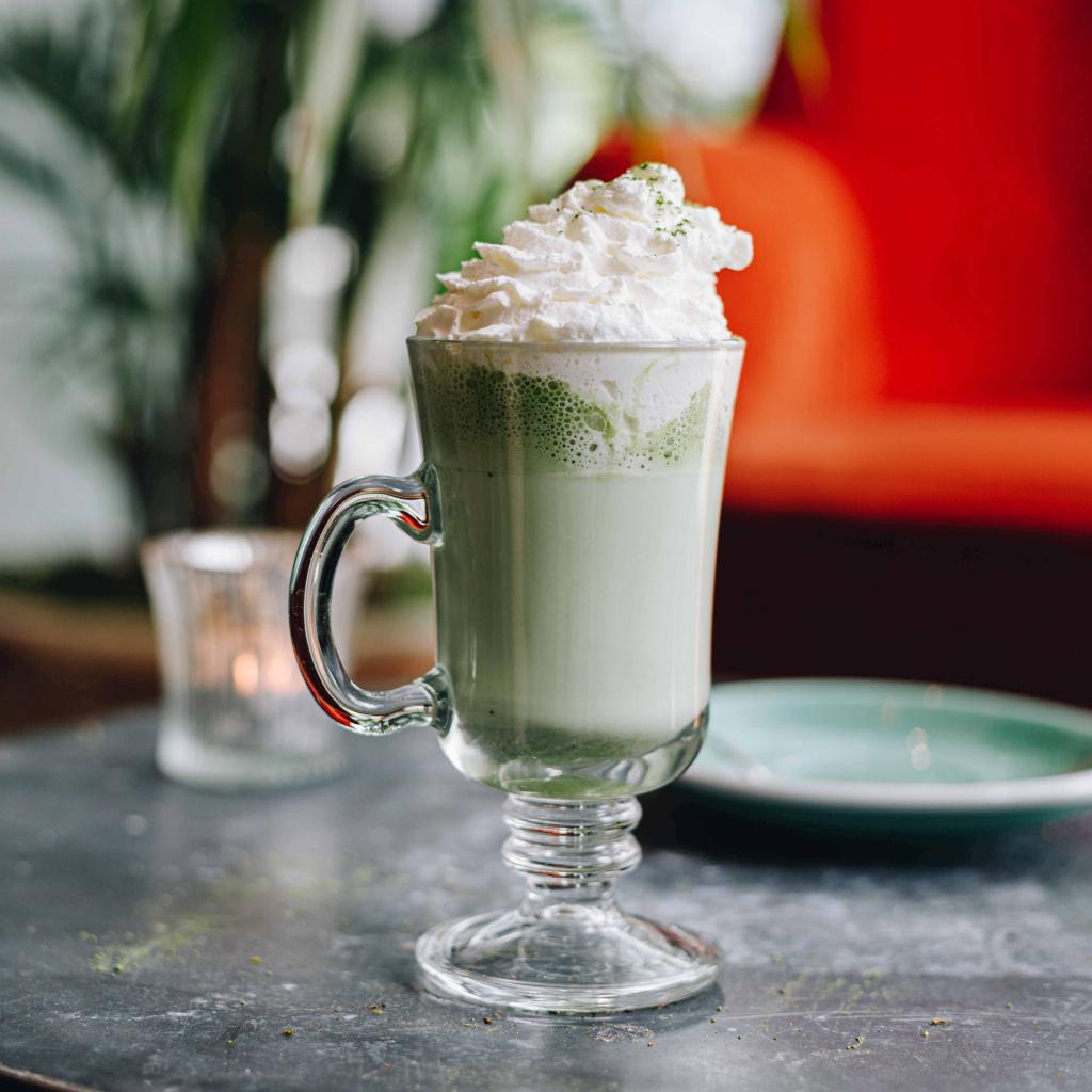 matcha white hot chocolate from Bill's