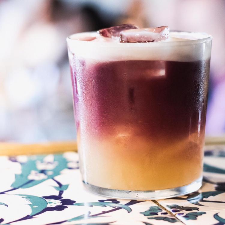 Maison Bab Christmas sour cocktail