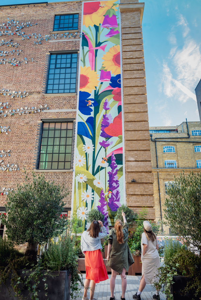 The Yards and The Bees mural