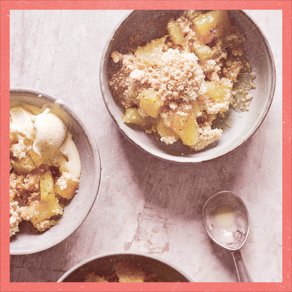 Dishoom pineapple crumble – perfect pudding for date night in