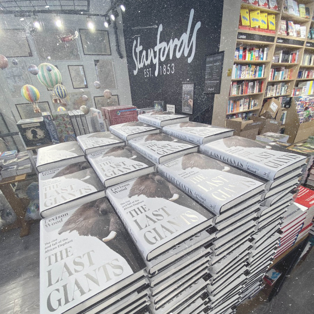 stanfords book display of The Last Giants