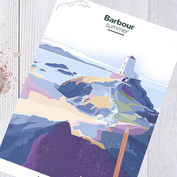 Barbour colouring in template – creativity at home