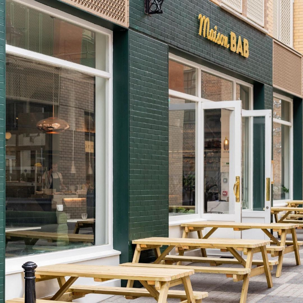 Outdoor dining at Maison Bab