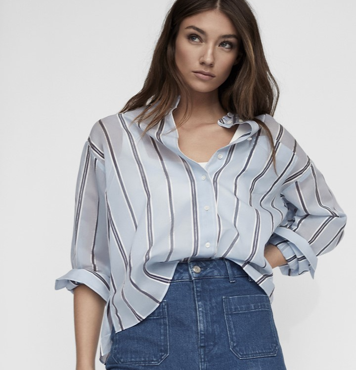 Reiss pale blue striped shirt spring style